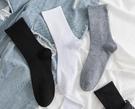 夏季黑色襪子夏天薄款中筒襪男