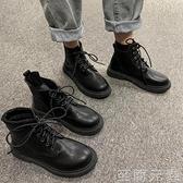 年新款英倫風春秋季瘦瘦單靴ins潮馬丁靴短靴子女潮ins中筒靴