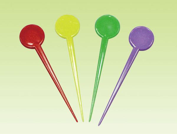 30入 圓頭 果針叉 水果叉 塑膠叉W023