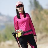 【新年鉅惠】 戶外長袖速干衣女春秋透氣立領運動衫登山徒步顯瘦速干T恤女排汗