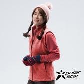 PolarStar 女 刷毛保暖背心『紅』P18244 戶外 休閒 登山 露營 保暖 禦寒 防風 刷毛
