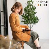 東京著衣-多色秋冬百搭素面長版針織上衣(172885)