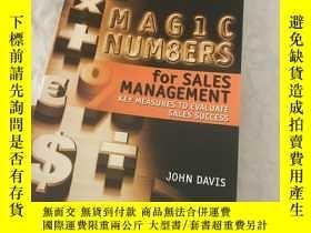 二手書博民逛書店Magic罕見Numbers for Sales Managem