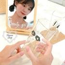 《花花創意会社》韓國。獨家ins耐熱加厚玻璃杯兔子狐狸方形果汁杯350ml 兩款【H6985】
