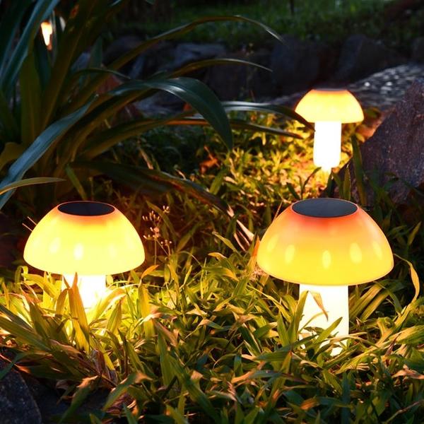 太陽能燈戶外防水庭院蘑菇燈草坪燈柱頭別墅花園庭院