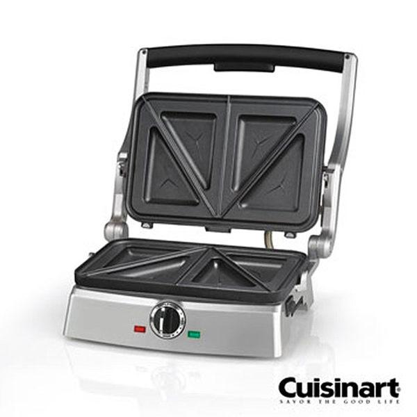 《送清潔海綿x2》【美國 美膳雅Cuisinart】三明治壓烤機 (SM-100TW)