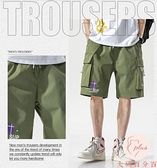 大碼加大外穿短褲男運動夏季薄款寬鬆五分工裝褲男【大碼百分百】