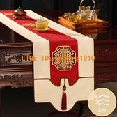 新中式桌旗床旗茶幾布桌布茶旗禪意電視柜飾布餐桌桌布定制【白嶼家居】