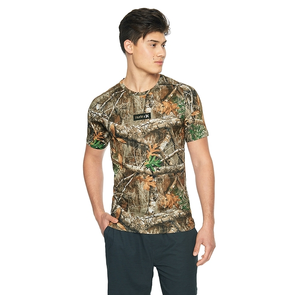 Hurley M Q/D REALTREE TEE SS T恤-卡其