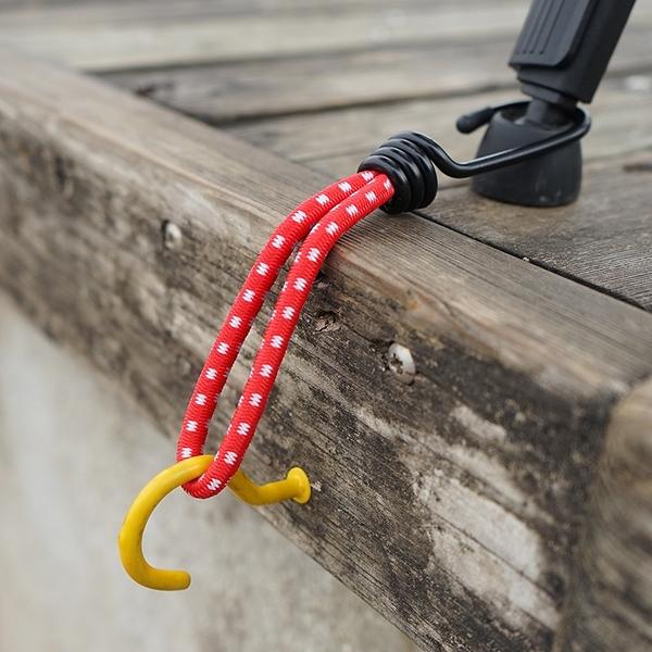 泰博思 戶外彈力繩掛勾-單勾 綑綁繩 單鉤繩 鬆緊繩 固定繩 (1入)【H050-T】