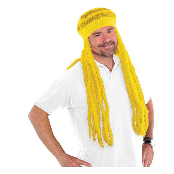 雷鬼假髮1入-日光黃