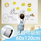【團購world】免運費 多件優惠 60x120cm超大款磁性鐵布軟白板 磁白板