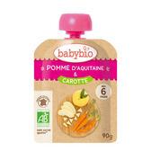 【愛吾兒】法國 Babybio 有機蘋果胡蘿蔔纖果泥 6個月以上適用