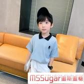 男童短袖POLO衫襯衫領洋氣夏裝2020新款兒童半袖T恤夏季