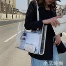 網紅大容量包包女2020新款流行百搭果凍透明包ins時尚洋氣單肩包 小艾新品