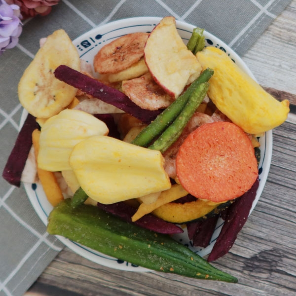 綜合蔬果脆片餅乾 天然蔬果片蔬菜餅 含波羅蜜 甘薯條芋頭條 蘋果香蕉 敏豆秋葵 273克 【正心堂】