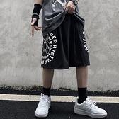 夏季短褲潮流嘻哈復古字母印花休閒褲短褲男女
