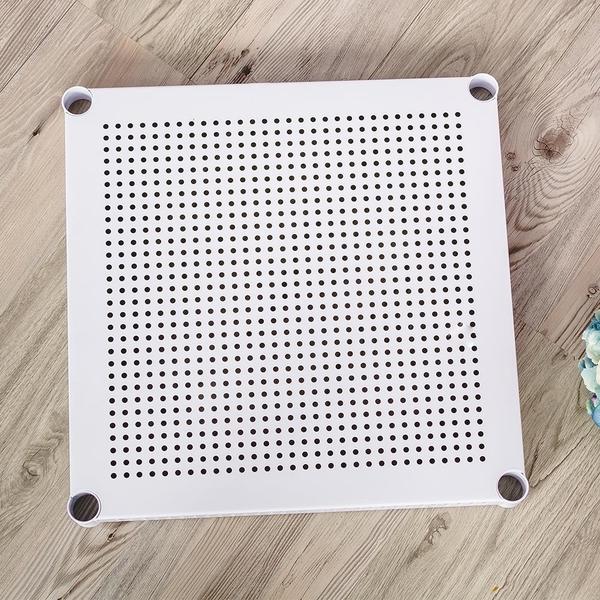 收納架/展示架/層架【配件類】極致美學45X45cm沖孔烤漆白層板(含夾片) dayneeds