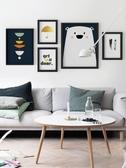 北歐客廳沙發背景裝飾畫臥室壁畫現代簡約風格掛畫玄關餐廳牆畫