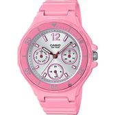 CASIO 卡西歐 迷你運動風日曆女錶-粉紅 LRW-250H-4A3 / LRW-250H-4A3VDF