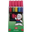【奇奇文具】吉爾多 精裝紅色 環保彩色粉筆(10支)