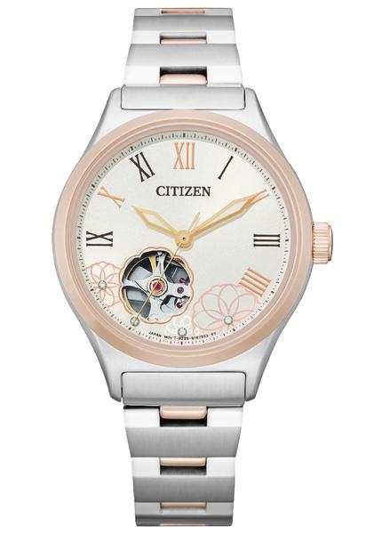 【分期0利率】星辰錶 CITIZEN 簍空 機械錶 34mm 全新原廠公司貨 PC1008-89A 時尚女錶