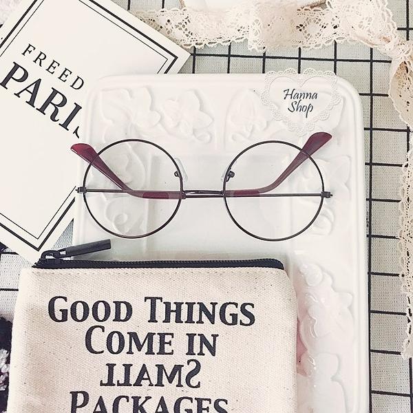 《花花創意会社》韓國小臉顯瘦文藝範大圓框古銅眼鏡【H6364】