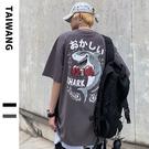 男生小眾設計T恤 2021夏季歐美寬鬆短袖T恤 日系印花街頭嘻哈體恤T恤 潮流時尚高街原創T恤