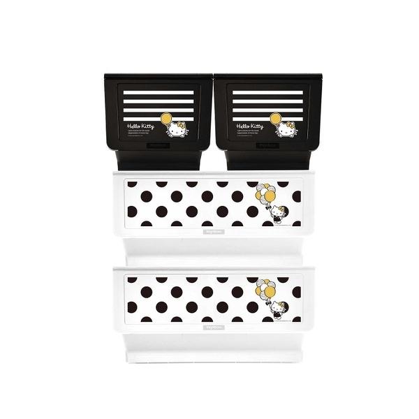 收納櫃 收納【R0198】Kitty黑點點款白底+白條紋黑底大嘴鳥整理箱(混裝) MIT台灣製 樹德 完美主義