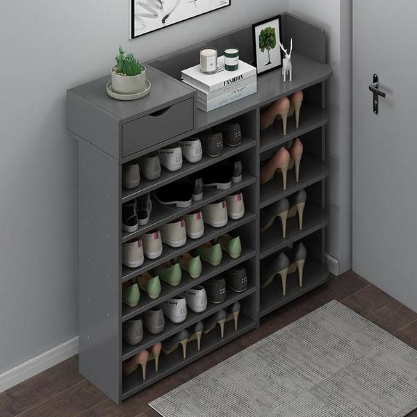 鞋櫃 鞋架子門口簡易多層家用鞋架ins收納神器鞋柜實木收納架