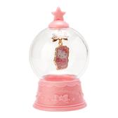 〔小禮堂〕Hello Kitty 水晶球造型合金項鍊《粉金》長項鍊.金鍊.2019聖誕系列 4901610-70411