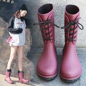 中筒雨鞋女防滑防水鞋套鞋春秋韓國新款成人雨靴加絨保暖水靴膠鞋 降價兩天