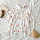 M混紡上衣 印花-月兒的綺麗莊園