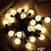 戶外裝飾燈 庭院防水外露燈串美式4CM玻璃燈泡鄉村婚慶小彩燈用品