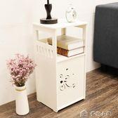 床頭櫃迷你組裝兒童收納櫃置物架簡易窄櫃臥室卡通小型床邊小櫃子 igo 「多色小屋」