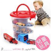兒童汽車玩具收納軌道溜溜桶
