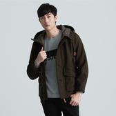 SISJEANS-橄欖綠連帽毛料外套【1627300477】