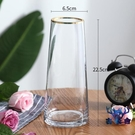 玻璃花瓶插花瓶擺件歐式輕奢描金透明水培鮮花北歐客廳【古怪舍】