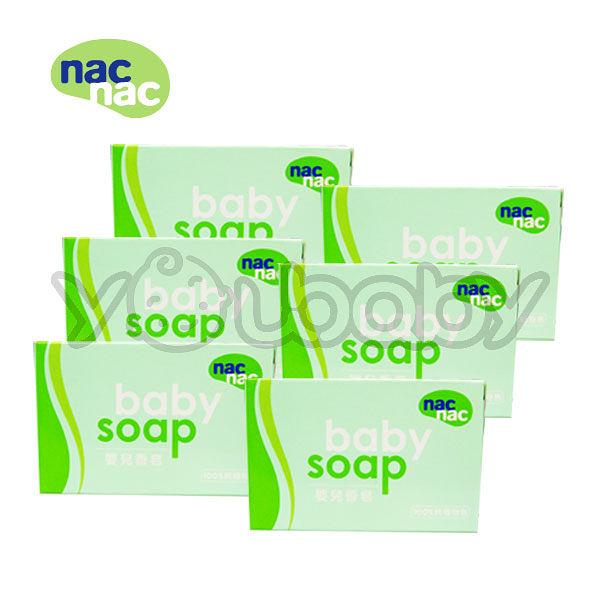 nac nac 嬰兒香皂/潔膚皂 6入量販特價組(盒)