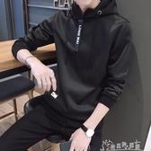 連帽T恤男長袖秋季T學生韓版休閒帥氣上衣薄款帶帽t恤男 新春禮物