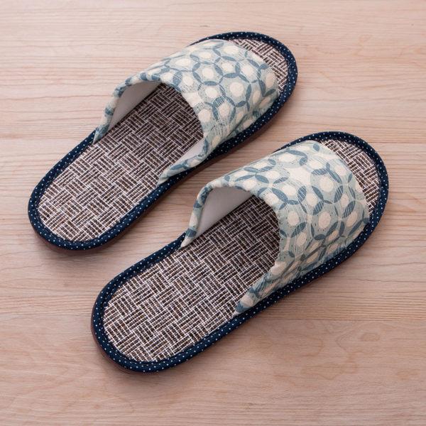 悠然波光仿草蓆拖鞋-生活工場