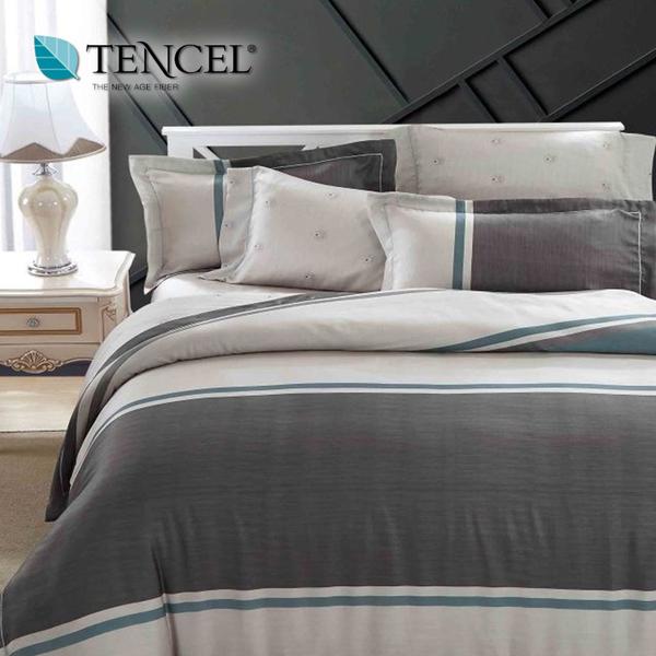【貝淇小舖】天絲床包四件式 100%萊賽爾天絲雙人5x6.2尺 鋪棉兩用被床包組 附天絲吊卡 威尼斯