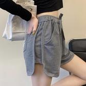 褲子女2020夏新款韓版寬鬆休閒運動短褲ins潮顯瘦百搭高腰寬管褲 台北日光