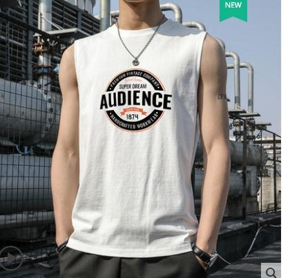 背心無袖t恤男士純棉背心夏季健身運動籃球訓練衣服男裝冰絲打底坎肩 JUST M