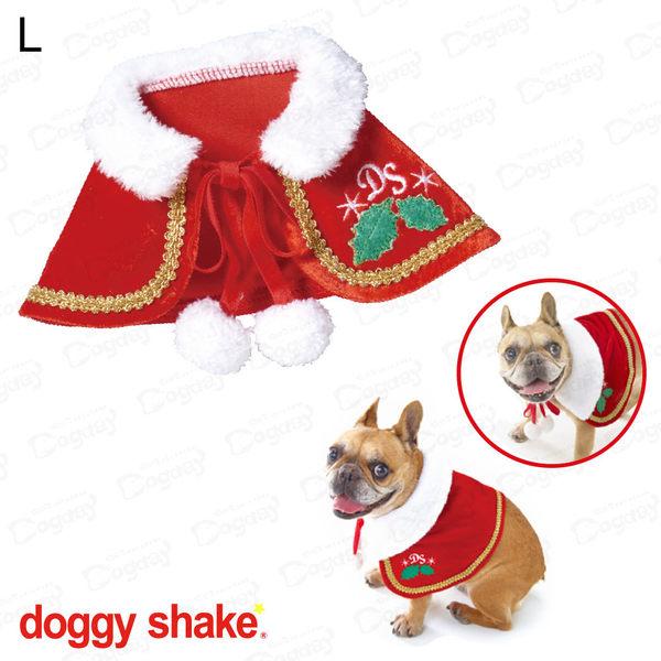 日本《Doggy Shake》聖誕快樂斗蓬 L 狗衣服 冬衣