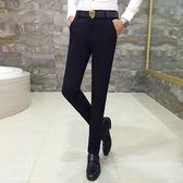 西裝褲春季長褲男青年時尚休閒褲子韓版修身小腳褲男士潮流西褲正裝上班 潮人女鞋