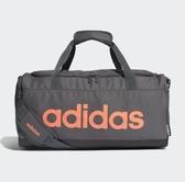 Adidas CORE LINEAR LOGO 灰橘訓練健身包-NO.FM6747