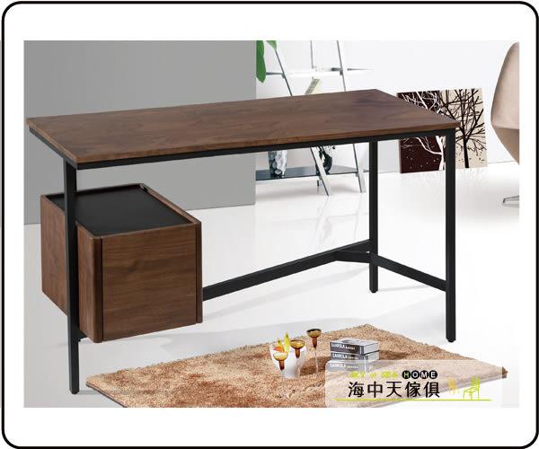 {{ 海中天休閒傢俱廣場 }} C-25 摩登時尚 書房系列 381-3 布朗尼4.5尺胡桃單抽書桌