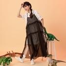 Queen Shop【01024213】馬卡龍腳趾 一堆可愛恐龍印花襯衫洋裝*現+預*