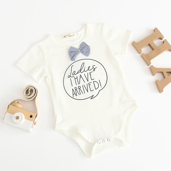 可愛條紋領結包屁衣 橘魔法 Baby magic 現貨 童裝 嬰兒 新生兒 西裝 婚禮 全家福拍照